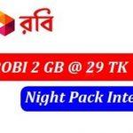 Robi 2GB Night Pack Only 29Tk Offer