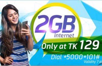 GP 2GB Internet 129Tk Offer