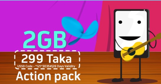 GP 2GB Action Pack 299Tk Offer