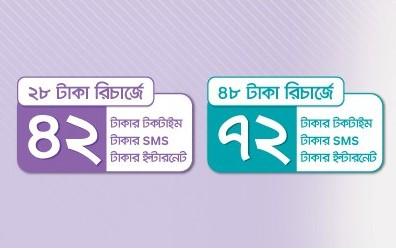 Airtel 28Tk & 72Tk Recharge Offer