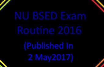 NU BSED Exam Routine 2016
