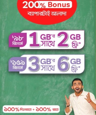 Airtel 200% Free Internet Offer