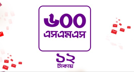 Robi 600SMS 12Tk EID Offer