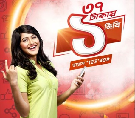 Robi 1GB Internet 37Tk Offer
